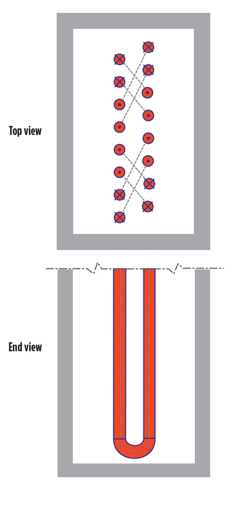 Triple-lane layout for enhanced cracking coil performance